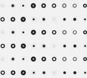 Small Black & White Dots (60cm X 100') Cellophane Roll