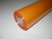 10m x 80cm Roll Tinted Orange Cellophane Wrap. Florist Quality Bouquet / Gift...