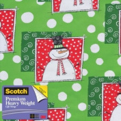 Scotch Gift Wrap, Happy Snowman Pattern, 25-Square Feet, 80cm x 10-Feet