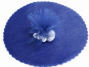 23cm Tulle Wedding Favour wrapping, decoration, gift wrapping Circle - Navy Blue/25pk