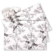 Instrument White Gift Wrap, pack of 3 sheets and 3 tag