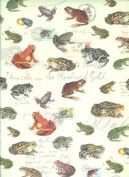 Frogs Rolled Gift Wrap Paper