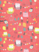 Owl Party Rolled Gift Wrap Paper
