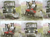 Border Collies & Land Rover Gift Wrapping Paper