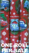 Disney Pixar Cars Christmas Wrapping Paper - One Roll of 20 Square Feet