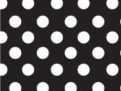 Black & White Polka Dot Gift Wrap Wrapping Paper 16 Foot Roll