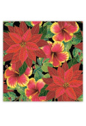 Hawaiian Continuous Gift Wrap Rolled Festive Hibiscus