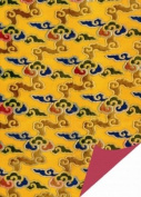 Yellow Clouds Brocade Gift Wrap Paper