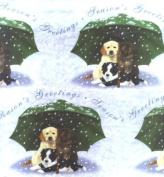 Labrador German Shepherd Border Collie Puppies Christmas Wrap and Tags