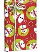 SNOWMAN GLOBES Ornaments Snowmen Christmas Holiday Gift Wrap Paper - 16 Foot Roll