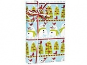 Trendy SNOWMAN WONDERLAND Snowmen Christmas Holiday Gift Wrap Paper - 16 Foot Roll