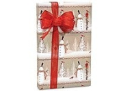 Woodland SNOWMEN Snowman Christmas Gift Wrap Wrapping Paper - 16ft Roll