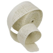 5.1cm Burlap Jute Ribbon for Party Decorations, Rustic Wedding Decor, Craft Projects - Off White
