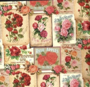Heritage Victorian Roses Rolled Gift Wrap Paper