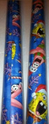 Nickelodeon ~ SPONGEBOB SQUAREPANTS ~ Snow Christmas Wrapping Paper 40 Sq. Ft.