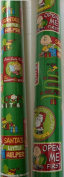 CHARLIE BROWN & SNOOPY ~ Christmas Wrapping Paper 40 Sq. Ft.