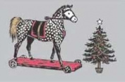Victorian Rocking Horse and Christmas Tree Boxed Christmas Cards