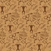 Hawaiian Petroglyph Tapa Design Gift Wrap Paper / 2 Rolls