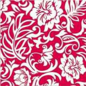 Red & White Hawaiian Pareo Design Gift Wrap Paper / 2 Rolls