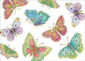 Caspari Jewelled Butterflies Ivory Gift Wrap Roll