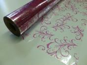 10m x 80cm Roll Strong Pink Sage Leaf Cellophane Wrap. Florist Quality Bouque...