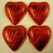 Weddingandpartystore 500G Red Foil Wrapped Milk Chocolate Hearts - Approx 100 - Great For Valentines Day