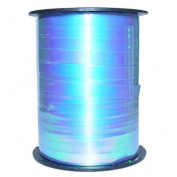 Iridescent Light Blue Curling Ribbon