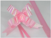 Pack of 10 Pink Colour Pull String Ribbon Bows Ideas for Decorative Gift Packing Wrapping