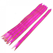 Rosallini 10 Pcs Gift Wrap Bowtie Designed DIY Pull Bow Ribbons Fuchsia for Wedding