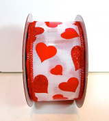 Jo-ann's Holiday Inspirations Valentine Ribbon,red/pink Glitter Hearts,2.2cm /3.8cm /6.4cm x 9ft/12ft.