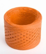 100 Yard Spools Eco Friendly Orange Matte Paper Raffia Ribbon- 3 100 Yard Spools-
