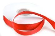 1.6cm Wide Red Grosgrain Ribbon - 2 - 25 Yards Rolls