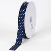 Navy with White Dots Grosgrain Ribbon Swiss Dot 1.6cm 50 Yards