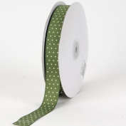 Old Willow with White Dots Grosgrain Ribbon Swiss Dot 1.6cm 50 Yards