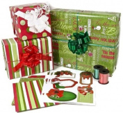 Christmas Gift Wrap Ribbon and Gift Tags Kit