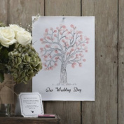 Ginger Ray Vintage Wedding Fingerprint Tree - Canvas with Inks & Instructions - Alternat...