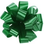 Set of 20 EMERALD GREEN Pom Pom, Pull Bows, 13cm Wide Satin for Gifts, Packages, Boxes, Birthdays, Anniversaries, Parties and Holidays Such as Christmas Wrapping