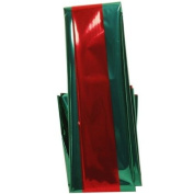 Holiday Design Red & Green Christmas Two Sided Mylar Tissue paper - 3 sheets per pack
