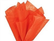 Bulk Tissue Paper Orange 50cm x 80cm - 48 Sheets