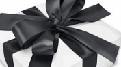 Cakesupplyshop Packaged Black Cake Border Decoration / Gift Wrap Deluxe Super Shinny Satin Ribbon