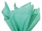 Caribbean Teal Aqua Blue Tissue Paper 50cm x 80cm - 48 XL Sheets