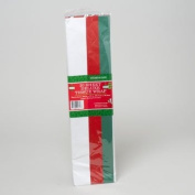 20 Sheets Tri-Colour Tissue Paper, 50cm x 50cm