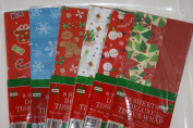 8 Sheets Deluxe Holiday Tissue Paper Wrap, Six Styles