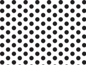 Black & White Polka Wrap Tissue Paper 50cm X 80cm - 24 Sheets
