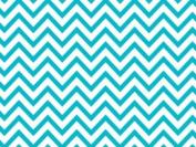 Turquoise Chevron Wrap Tissue Paper 50cm X 80cm - 24 Sheets