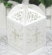 Cross cutout baptism communion christening Die cut Favour Boxes