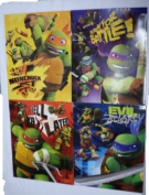 4 Pack Teenage Mutant Ninja Turtles School Bag Back to School Folders