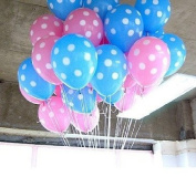 NEO 12'' Pink and Blue Dot Balloons for Party Decoration