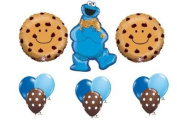 Cookie Monster Sesame Street Chocolate Chip Happy Birthday Balloon Party Set