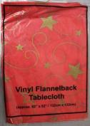 "Dp Festive Christmas Xmas Vinyl Flannelback Tablecloth 132cm X 132cm (52"" X 52"")"